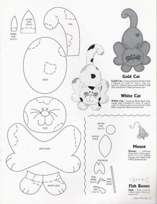 Gatitos hechos con goma eva | Angeles Manualidades (Goma Eva)