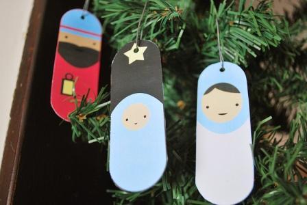 adornos navideños para arbolito para imprimir