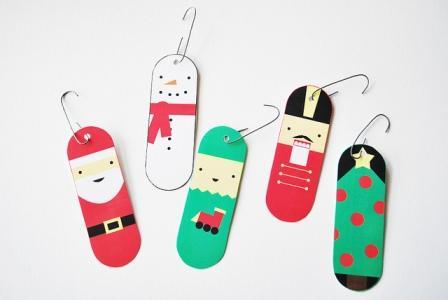 adornos navideos para el arbolito para imprimir angeles
