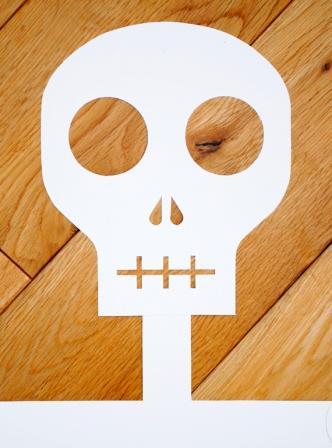 Manualidades para niños: Cabeza de esqueleto