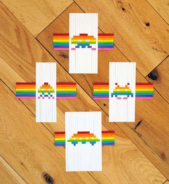 Manualidades para niños: Diseños tejidos con papel