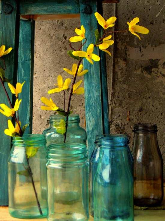 Decoración: Manualidades Pintar frascos de vidrio