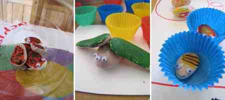 Manualidades para niños: insectos de piedras