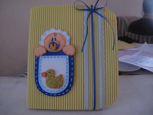 Invitaci n de bautizo hecha a mano angeles manualidades - Como preparar una comunion en casa ...